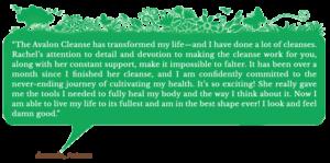 Holistic Living With Rachel Avalon - Coaching - The Avalon Cleanse - Testimonial